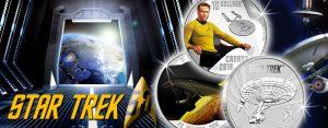 Neue Münzen 2016 für Trekkies – Silberdollars rund um Raumschiff Enterprise, Captain Kirk und Mr. Spock