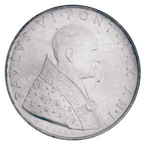 Paul VI. - Portraitseite der Vatikan 500 Lire 1963
