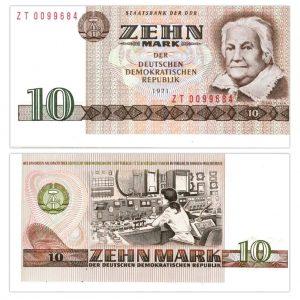 DDR 10 Mark (Ersatzbanknote) 1971, Rosenberg-Nummer: 359d