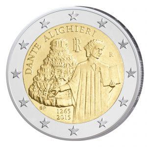 Italien 2 Euro-Gedenkmünze 2015 – 750. Geburtstag von Dante Alighieri