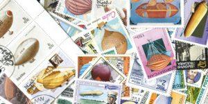 """Briefmarken Motiv-Sammlung """"Zeppeline etc."""""""