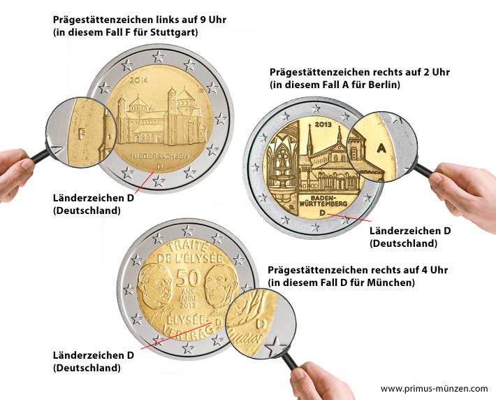 änderung Der Münzzeichen Brd 2 Euro 2018 Berlin Charlottenburg