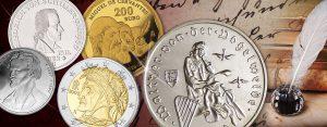Ratgeber Münzen sammeln: Beliebtes Sammelgebiet Schriftsteller, Dichter, Literaten