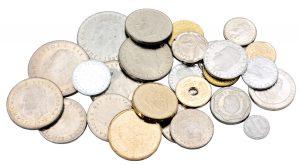 Voreuro-Münzen des spanischen Königs Juan Carlos
