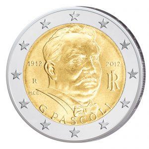 Italien 2 Euro-Gedenkmünze 2012 - 100. Todestag des Dichters Giovanni Pascoli