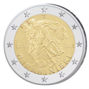Italien 2 Euro-Gedenkmünze 2014 200 Jahre Carabinieri