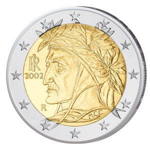 Italien 2 Euro-Kursmünze ab 2002 Dante
