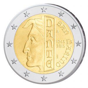 San Marino 2 Euro-Gedenkmünze 2015 – 750. Geburtstag von Dante Alighieri