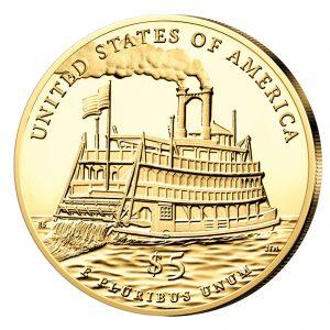 """Wertseite der Münze USA 5 Dollars 2016 """"Mark Twain"""""""