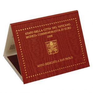 Blister der Vatikan 2 Euro-Gedenkmünze 2008 - Paulus Jahr
