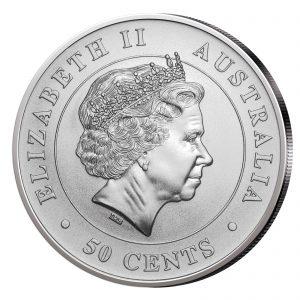 Queenseite der faszinierenden Anlagemünze mit Hammerhai-Motiv
