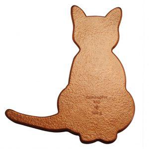 """Für Katzenfreunde - Kupferbarren """"Katze"""", 999er Kupfer, 500 Gramm, Ø 8,7 x 9,7cm"""