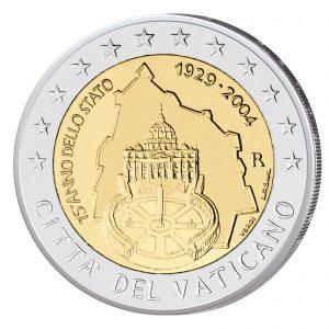 Vatikan 2 Euro-Sondermünze 2004 - 75 Jahre Vatikanstadt