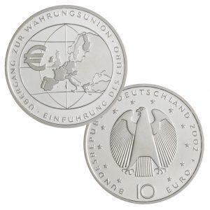BRD 10 Euro 2002 Einführung des Euro - Übergang zur Währungsunion
