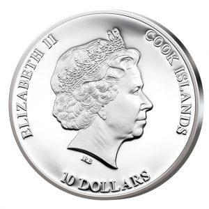 Cooks Islands 10 Dollars 2014, 925er Silber, 50 Gramm, Durchmesser 50mm, PP, Auflage: 1.000