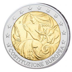 Italien 2 Euro Sondermünze 2005 - 1. Jahrestag Unterzeichnung EU-Verfassung