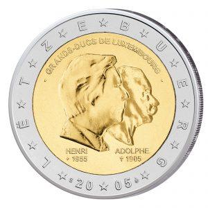 Luxemburg 2 Euro Sondermünze 2005 - Großherzöge