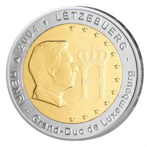 Luxemburg 2 Euro-Sondermünze 2004 - Großherzogliches Monogramm
