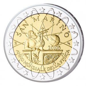 San Marino 2 Euro Sondermünze 2005 - Internationales Jahr der Physik