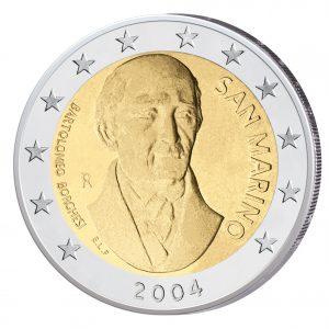 San Marino 2 Euro Sondermünze 2004 Bartolomeo Borghesi