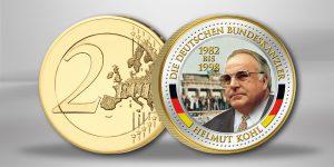 Helmut Kohl - Farbvariante einer 2 Euro-Münze