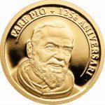 "Andorra 2 Diner 2012""125. Geburtstag Pater Pio"", 999,9er Gold, 0,5g, 11mm, PP, Auflage 5.000"