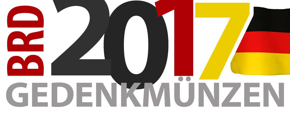 BRD Münzen 2017 – Themen, Motive, Ausgabetermine - Gedenkmünzen 2017, Prägeprogramm