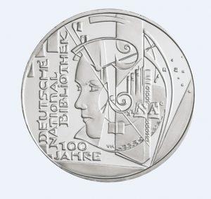 BRD 10 Euro 2012 100 Jahre Deutsche Nationalbibliothek