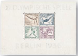 Deutsches Reich Block 6 (Ausgabe 1. August 1936)