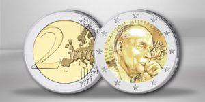 Frankreich 2 Euro-Gedenkmünze 2016 Mitterrand