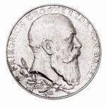 Großherzogtum Baden 5 Mark 1902 50jähriges Regierungsjubiläum Friedrich I., 900er Silber 27,778g, Ø 38mm, Jaeger 31