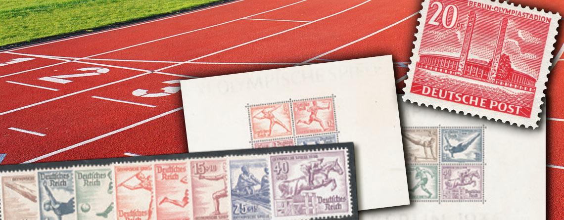 Das olympische Jahr 1936 in der Philatelie