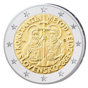 Slowakei 2 Euro-Gedenkmünze 2013 - 1150. Jahrestag der Byzantinischen Mission durch Kyrill und Method