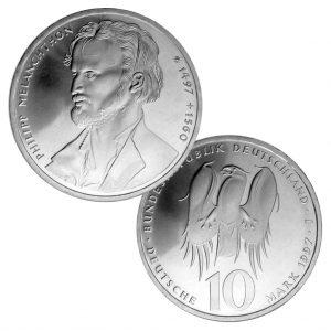 BRD 10 DM 1997 500. Geburtstag des Reformators Philipp Melanchthon