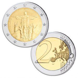 "Vatikan 2 Euro-Gedenkmünze 2013 ""XXVIII. Weltjugendtag Rio de Janeiro"", im Blister, st"