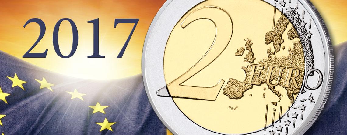 2 Euro Gedenkmünzen 2017 Münzbilder Und Informationen Zu Den