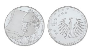 BRD 10 Euro 2012 150. Geburtstag Gerhart Hauptmann, st (CuNi, 14g, Ø 32,5mm), PP (625er Silber, 16g, Ø 32,5mm), Jaeger-Nr. 575