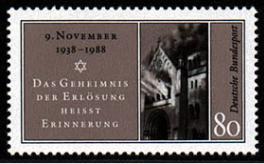 Pogromnacht 1938 BRD Mi.Nr. 1389 (anlässlich des 50.Jahrestages der Novemberpogrome)