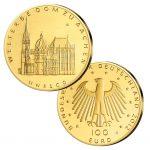 BRD 100 Euro 2012 UNESCO Weltkulturerbe – Aachener Dom, 999,9er Gold, 15,55g, Ø 28mm, Prägestätte ADFGJ, st Auflage: 54.000 je Prägestätte, Jaeger-Nr. 574