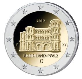 Deutschland 2 Euro-Gedenkmünze 2017 – Bundesländer-Serie: Rheinland Pfalz: Porta Nigra
