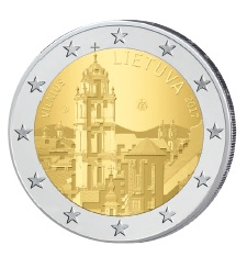 Litauen 2 Euro-Gedenkmünze 2017 - Vilnius - Hauptstadt der Kultur und Kunst