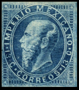 Mexiko Mi.Nr. 26 (erschienen am 1. August 1866)