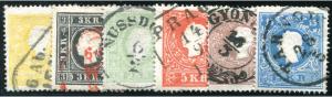 Österreich Mi.Nr. 10/15 (erschienen am 1. November 1858)