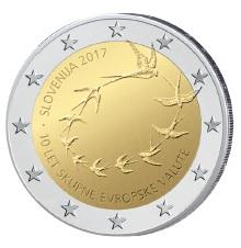 Slowenien 2 Euro-Gedenkmünze 2017 - 10. Jahrestag der Euro-Einführung