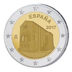 Spanien 2 Euro-Gedenkmünze 2017 – Denkmäler von Oviedo und des Königreiches Asturien