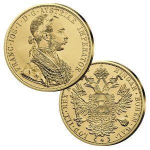 Österreich - Handelsgoldmünze 4fach Dukat, Jahreszahl 1915, 986er Gold, 13,964g, Ø 39,5mm
