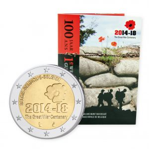 Belgien 2 Euro-Gedenkmünze 2014 Stempelglanz im Blister