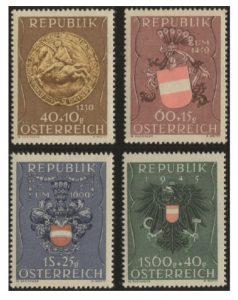 Österreich Mi.Nr. 937/40 (erschienen am 17.August 1949)