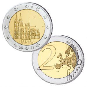 """Deutschland 2 Euro-Gedenkmünze 2011 """"Kölner Dom"""""""