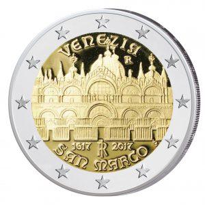 """Italien 2 Euro-Gedenkmünze 2017 """"400. Jahrestag Fertigstellung des Markusdomes in Venedig"""